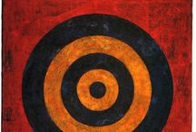 Artist Inspiration-Jasper Johns / The work of artist Jasper Johns is full of color and pattern. I have been a follower of his work since my college art days when my Sr. Project was a study of his life and work. His  targets, flags, and numbers are fascinating.