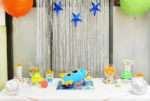 outer space birthday theme / by Brandy Rivera