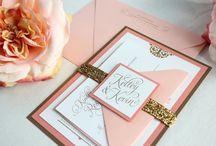 Etsy Designs :: Peach / Peach inspired weddings and invitations.