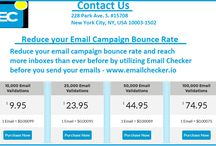 Reduce your Email Campaign Bounce Rate - Email Checker