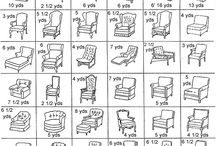 Interior Design Cheat Sheet / chair styles - drapery ideas - leg styles -electrical plan symbols -