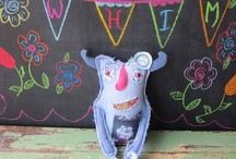 Land Of Whim / Silly monsters crafted from reclaimed jeans, sweaters, and other fabrics! / by Karen Christopher-Wellman
