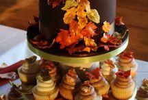 Autumn wedding cakes