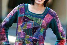 crazy quilt knitting