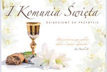 dekoracje komunijne / Dekoracje komunijne, które można wykorzystać na przyjęciu w domu lub lokalu oraz ozdoby idealne do kościoła.