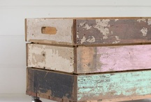 Weathered fruit box / Useful storage