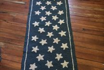 RustedAngelCrafts Primitive offerings / This punched rug is a one of a kind offering and would look perfect in your country home!