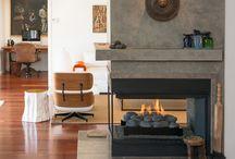 three way fireplace