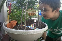 GARDENING with KIDS / Math skills, measuring, balancing... Science and textures... and of course, QUALITY TIME TOGETHER! Gardening ideas and tips for your munchkins ~MHE  / by Michelle Eliason