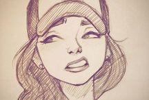 girls art drawing