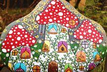 rock art mushrooms