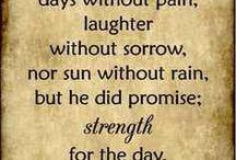 God's uplifting promises.