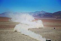 The smoke plume is a traditional marking of the Dakar Rally-winning MINI Countryman. - photo from miniusa