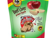 Liver Plus™ - Pet Treats / This line of functionally nutritious dog treats infuses our traditional Liver Chops® with the known nutritional benefits of pure Apple, Banana, Cranberry, Fish, Beef Heart, Sweet Potato and Pumpkin. Enjoy the flavours individually, or as a mixture.