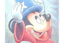 ディズニーのイラスト集