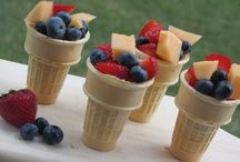 Summer fruit cone treats / Yummy, easy to prepare — and good for them, too! / by MetroKids Magazine