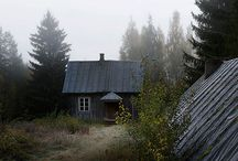 Kai Fagerström  / Finnish photographer Kai Fagerström presents unique photo series, where he captures wild animals making themselves comfortable in abandoned houses in the woods of Finland. Titled The House in the Woods, the photo series is set in cottages near Kai's summer house, which were abandoned by their tenants after the owner of the place died in a fire.  / by Desert Heart