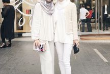 Hijab in white