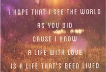 Lyrics I love.