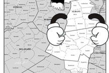 Proposed New York State Districts, gerrymandered by politicians, illustrated by me