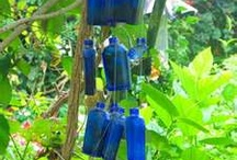 Up-cycling Blue Bottle Ideas