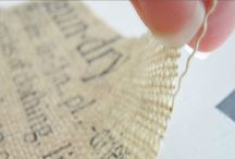 crafty stuff :: burlap / by Tanya Jorgensen