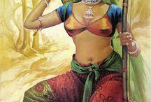 Indian art poster