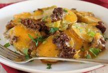 Ground Beef and Scalloped Potato Caserol
