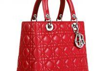 Shiny Red Designer Handbag