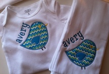 Appliqued All Over / These are some examples of the different applique clothing items we do in our store for baby, girls, and boys.