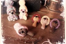 """Freddoletti"" winter teddy bears / Needle felted teddy bears - collection winter 2014"