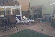 UltraShield Quick Deck / Look how easy it is to turn any outdoor living space into a nice wood deck look.