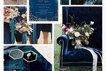 Bryllup blå,grønn,guld
