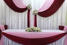 Свадьба бордовая