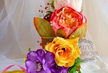 Венок на голову из цветов / Вы можете приобрести у меня эти веночки из текстильных цветов!