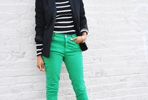 how to wear green skinnies/pants / by Citygirl Dc