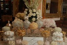 Ivory/gold tables