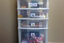 Kids craft supply storage