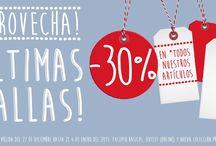 Promoción de Reyes en La Rodona / Desde el 26 de diciembre al 6 de enero de 2015. Aprovecha el 30% de descuento en todos nuestros artículos, excepto en básicos, outlet (online) y nueva colección Primavera 2015