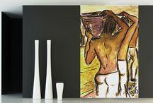 Brésil ! Peintures d'un artiste brésilien / Décorez votre intérieur aux couleurs du Brésil.