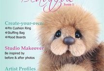 Bear Beautiful Magazine Covers / Check out the Bear Beautiful magazine covers. Amazing Artist bears on each issue.