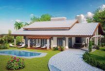 Casas de Campo / Fachadas de projetos de casas de campo