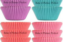 Retro Style Baking Cups Combo Packs  / Gorgeous retro colors Cupcake and Muffin Baking Liners Now in Combo Packs! You'll get all four colors.  Larger quantities available.  http://bakeitpictureperfect.com