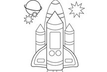 space shuttle colouring page