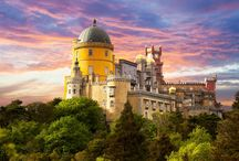 """Sintra & Royal Palaces Tour / A journey through time in charming Sintra, classified as World Heritage by UNESCO, and the most romantic town in Portugal. Join us on the discovery of majestic palaces, three residences of Portugal's former Royal Family - the medieval Palace of Sintra, the romantic Pena Palace and Queluz Palace known as the """"Portuguese Versailles"""". Get to know their stories and let yourself be enchanted by its remarkable historical and architectural heritage. This will be an unforgettable day!"""
