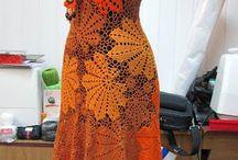 vestido de crocher
