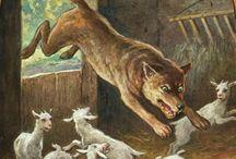 Grimm, de wolf en 7 geitjes
