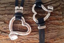 Joyería de cuero collar y pulsera