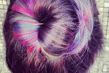 mermaid hair / pastel colored hair