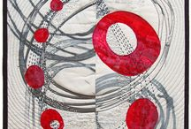 Textile art and quilts / Using fabric and stitching to create interesting contemporary textile pieces. Inspirational.